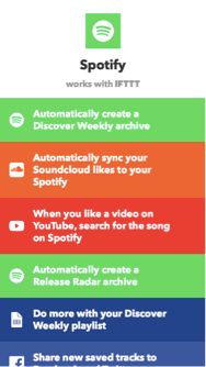 IFTTT API Phone Screenshot